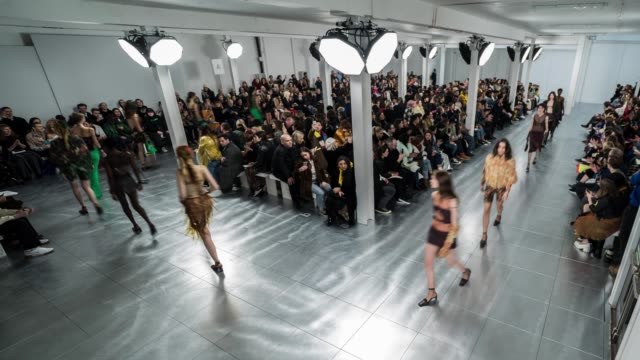 Models walk the runway at Fashion East on February 18 2018 in London England