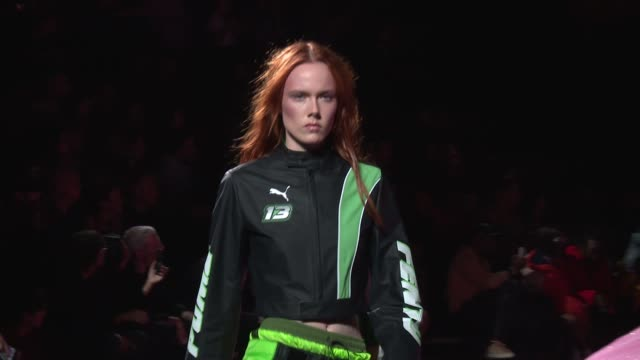 Models walk the runway at Fenty x Puma New York Fashion Week Spring 2018 at Park Avenue Armory on September 10 2017 in New York City