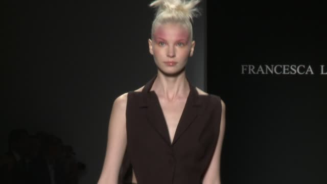 models walk the runway at francesca liberatore - runway - spring 2015 mercedes-benz fashion week at the salon at lincoln center on september 08, 2014... - mercedes benz fashion week stock videos & royalty-free footage