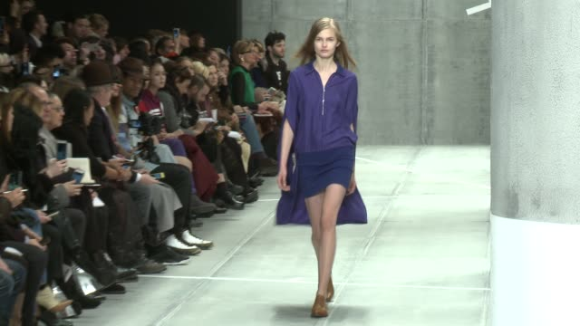 models walk the runway at lacoste - fall 2015 mercedes-benz fashion week at the theater at lincoln center on february 14, 2015 in new york city. - 既製服点の映像素材/bロール
