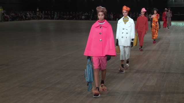 Models walk the runway at Marc Jacobs New York Fashion Week Spring 2018 at Park Avenue Armory on September 13 2017 in New York City