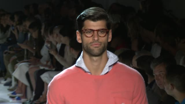 models walk the runway at michael bastian s/s 2016 nyfw mens runway show at skylight clarkson sq on july 15 2015 in new york city - catwalk stock videos & royalty-free footage