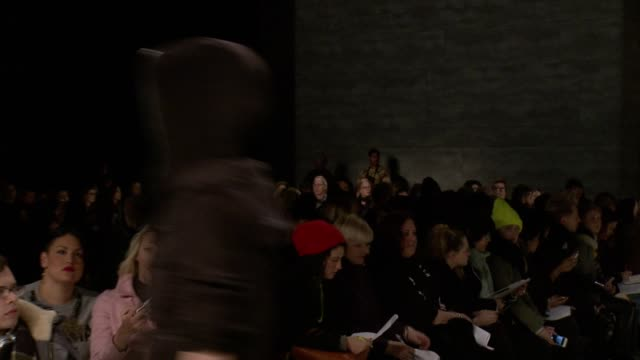 models walk the runway at nicholas k - fall 2014 mercedes-benz fashion week at the pavilion at lincoln center on in new york city. - mercedes benz fashion week stock videos & royalty-free footage
