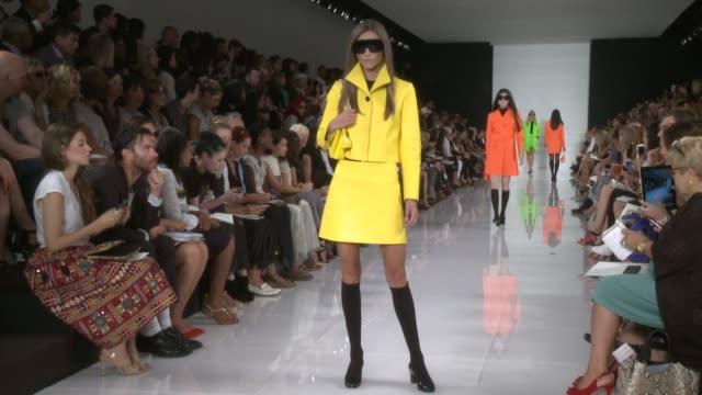 Models walk the runway at Ralph Lauren Spring 2014 MercedesBenz Fashion Week at TBD on September 12 2013 in New York New York