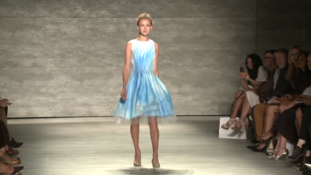 models walk the runway at supima - runway - spring 2015 mercedes-benz fashion week at the pavilion at lincoln center on september 04, 2014 in new... - mercedes benz fashion week stock videos & royalty-free footage