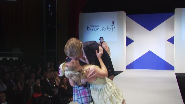 models walk the runway at the 8th annual 'dressed to kilt' charity fashion show at new york ny - dressed to kilt stock videos & royalty-free footage