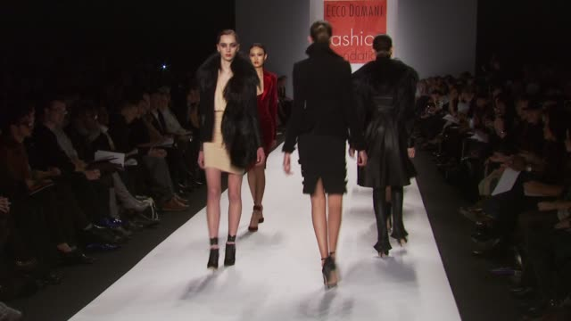 Models walk the runway at the Ecco Domani Fashion Foundation at the Ecco Domani Fall 2010 MBFW at New York NY