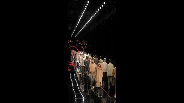 Models walk the runway at the Fendi show during Milan Men's Fashion Week Spring/Summer 2019 on June 18 2018 in Milan Italy