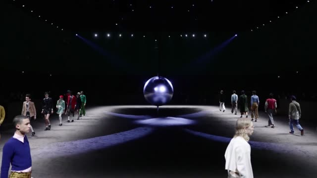 models walk the runway at the gucci fashion show on january 14, 2020 in milan, italy. - fashion show stock videos & royalty-free footage