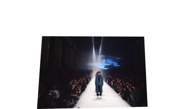 berlin germany january 14 models walk the runway at the neonyt show during berlin fashion week autumn/winter 2020 at kraftwerk mitte on january 14... - gif stock videos and b-roll footage