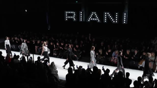 berlin germany january 15 models walk the runway at the riani show during berlin fashion week autumn/winter 2020 at kraftwerk mitte on january 15... - gif stock videos and b-roll footage