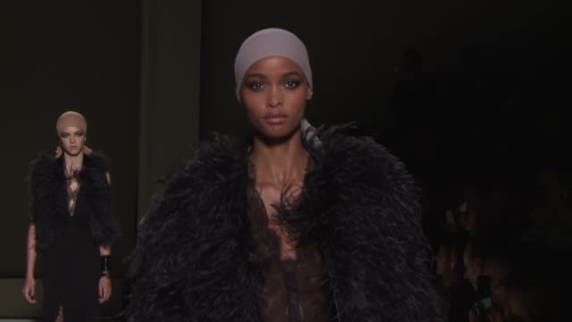 models walk the runway at tom ford september 2018 new york fashion week at park avenue armory on september 5 2018 in new york city - runway stock videos & royalty-free footage
