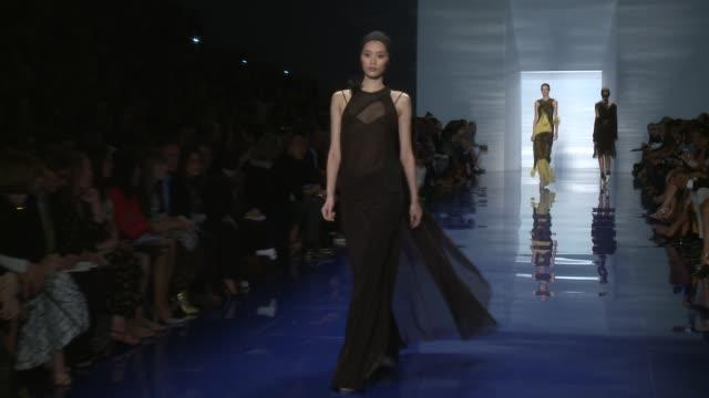 Models walk the runway at Vera Wang Runway Spring 2014 MercedesBenz Fashion Week in New York NY on 9/10/13