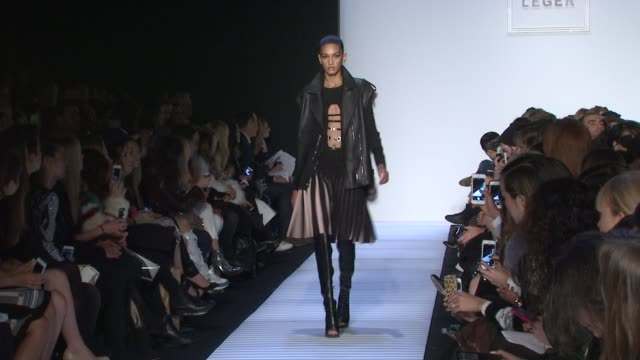 stockvideo's en b-roll-footage met models walk the runway during herve leger by max azria fall 2014 mercedesbenz fashion week at the theatre at lincoln center on february 8 2014 in new... - bcbg max azria