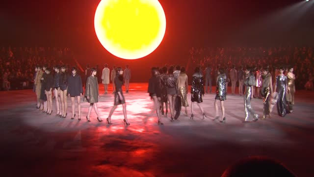 models walk the runway during marc jacobs fall 2013 mercedesbenz fashion week at new york armory on february 14 2013 in new york new york - marc jacobs designer label stock videos and b-roll footage