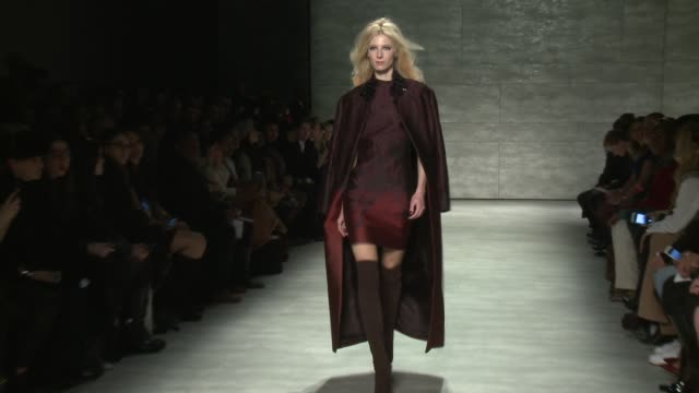 models walk the runway during pamella roland nicholas k fall 2015 mercedesbenz fashion week at the pavilion at lincoln center on february 16 2015 in... - week stock videos and b-roll footage