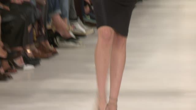 stockvideo's en b-roll-footage met models walk the runway during ralph lauren runway spring 2015 mercedesbenz fashion week at skylight clarkson sq on september 11 2014 in new york city - skylight clarkson sq
