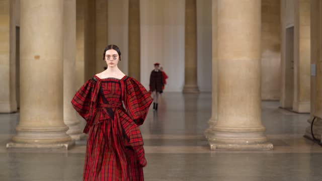 models walk the runway during the bora aksu show during london fashion week february 2021 at tate britain on february 16, 2021 in london, england. - runway stock videos & royalty-free footage