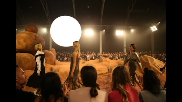 Models walk the runway during the MercedesBenz Presents Camilla And Marc show at MercedesBenz Fashion Week Resort 19 Collections at the Royal Hall of...