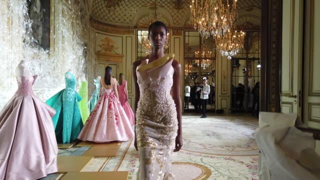 FRA: Paris Fashion Week - Haute Couture Spring/Summer 2020 - Rami Al Ali Presentation