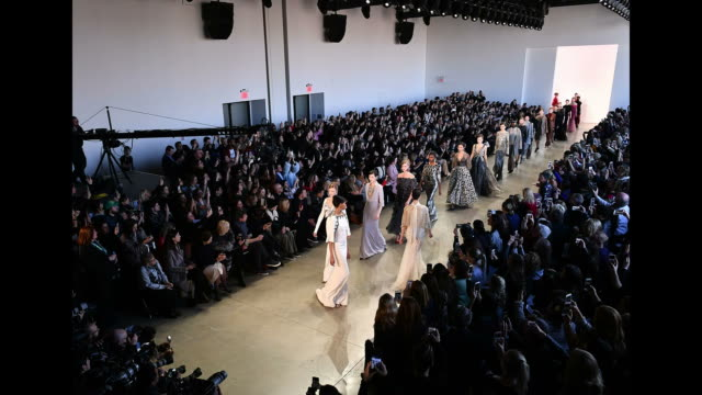 Models walk the runway for Badgley Mischka during New York Fashion Week The Shows at Gallery I at Spring Studios on February 13 2018 in New York City