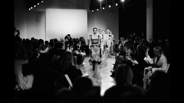 Models walk the runway for Brock Collection during New York Fashion Week The Show at Gallery II at Spring Studios on February 9 2018 in New York City