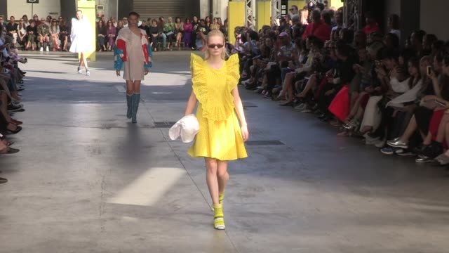 Models walk the runway for the MSGM Ready to Wear Spring Summer 2018 Fashion Show in Milan Sunday September 24 2017 Milan Italy