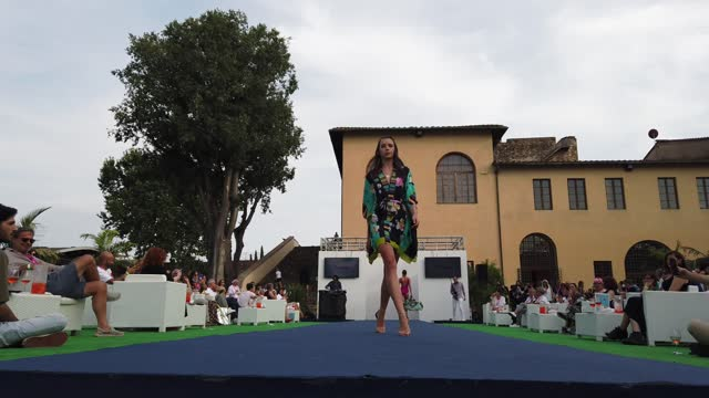 models walk the runway for vacanze italiane during the maredamare 2021 swimwear international fashion shows at fortezza da basso on july 25, 2021 in... - florence italy stock videos & royalty-free footage