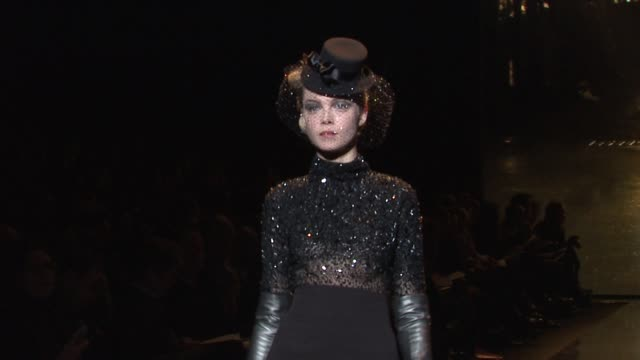models walk the runway wearing badgley mischka fall 2011 collection during mercedes-benz fashion week fall 2011 at the badgley mischka - fall 2011... - fashion collection stock videos & royalty-free footage