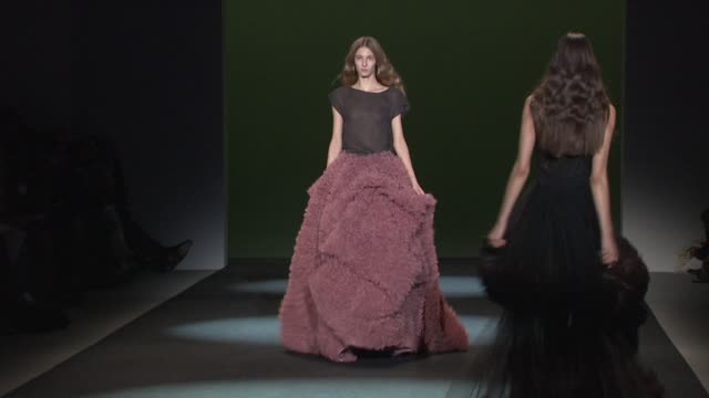 models walk the runway wearing christian siriano fall 2011 collection during mercedes-benz fashion week fall 2011 at the christian siriano - fall... - fashion collection stock videos & royalty-free footage