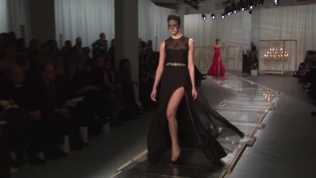 Models walk the runway wearing Jason Wu Fall 2011 collection during MercedesBenz Fashion Week Fall 2011 at the Jason Wu Fall 2011 MBFW at New York NY