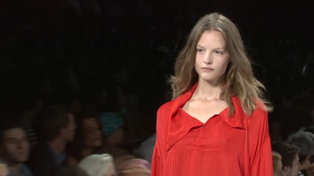 models walk the runway wearing lacoste spring 2012 during mercedes-benz fashion week spring 2012 at the lacoste- spring 2012 mercedes-benz fashion... - mercedes benz fashion week stock videos & royalty-free footage