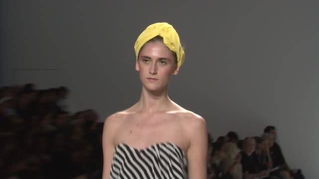 models walk the runway wearing rosa cha spring 2010 collection during mercedes-benz fashion week spring 2010 at the mercedes-benz fashion week spring... - fashion collection stock videos & royalty-free footage