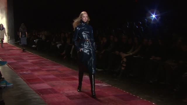 models walk the runway wearing tommy hilfiger fall 2011 collection during mercedes-benz fashion week fall 2011 at the tommy hilfiger - fall 2011 mbfw... - fashion collection stock videos & royalty-free footage