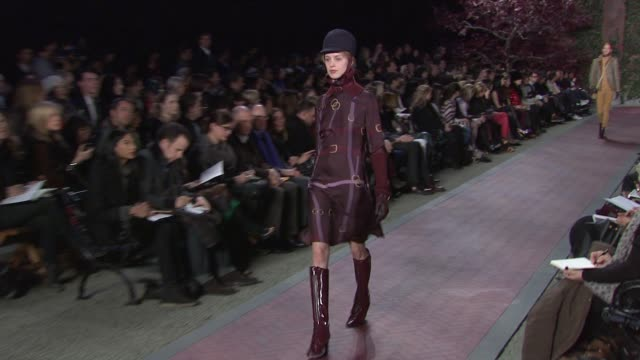 models walk the runway wearing tommy hilfiger womens fall 2012 collection during mercedesbenz fashion week fall 2012 on in new york ny - tommy hilfiger designer label stock videos and b-roll footage