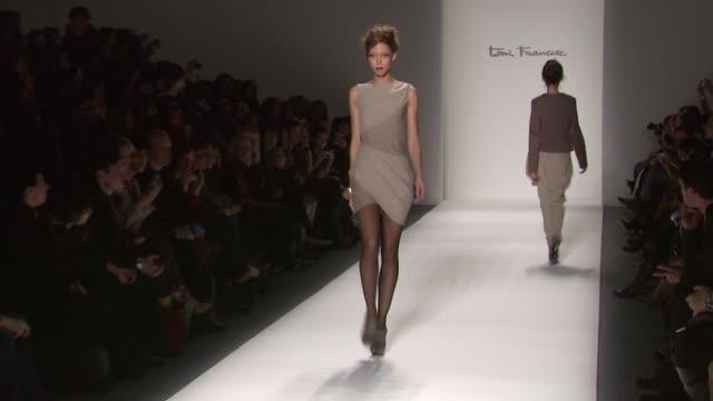 Models walk the runway wearing Toni Francesc Fall 2011 collection during MercedesBenz Fashion Week Fall 2011 at the Toni Francesc Fall 2011 MBFW at...