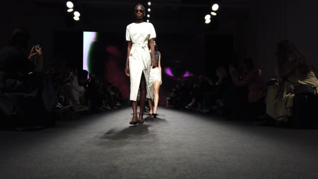 models walks the runway the finale of the show at the drome fashion show during the milan women's fashion week on september 26, 2020 in milan, italy. - milan fashion week stock videos & royalty-free footage