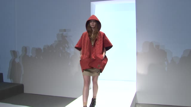 stockvideo's en b-roll-footage met models wear concept korea fall 2012 collection during mercedesbenz fashion week fall 2012 on in new york ny - concept korea mode