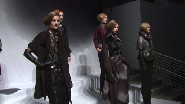 models wear concept korea fall 2012 collection during mercedes-benz fashion week fall 2012 on in new york, ny. - fashion collection stock videos & royalty-free footage