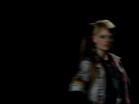 models wearing heatherette, fall 2006 at the olympus fashion week fall 2006 heatherette runway at the tent at bryant park in new york, new york on... - オリンパスファッションウィーク点の映像素材/bロール