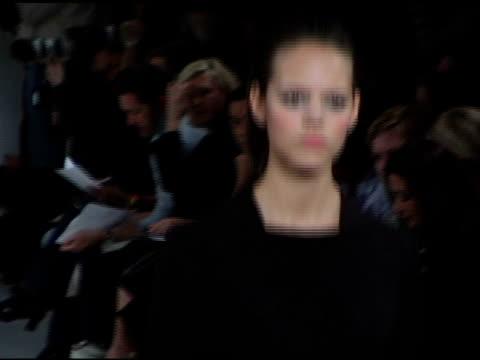 models wearing narciso rodriguez fall 2006 at the olympus fashion week fall 2006 narciso rodriguez runway at 548 west 22nd st in new york, new york... - オリンパスファッションウィーク点の映像素材/bロール
