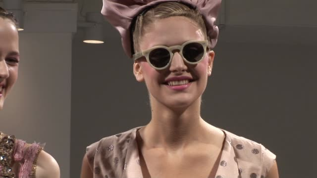 models wearing peter som spring 2010 at the mercedesbenz fashion week spring 2010 peter som at new york ny - peter som marchio di design video stock e b–roll