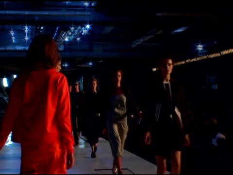 Models wearing Y3 Spring 2007 at the Olympus Fashion Week Spring 2007 Y3 Runway at Pier 40 in New York New York on September 13 2006