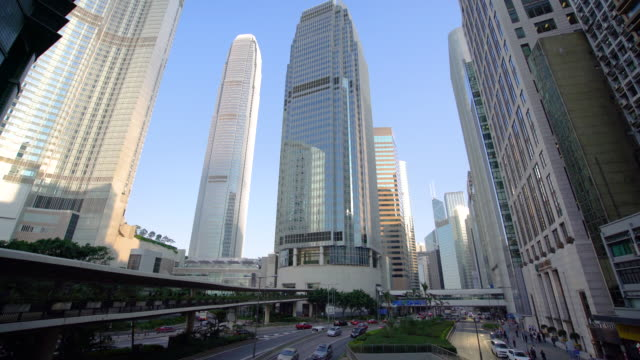 ws moden skyscrapers in central / hong kong, china - day stock videos & royalty-free footage
