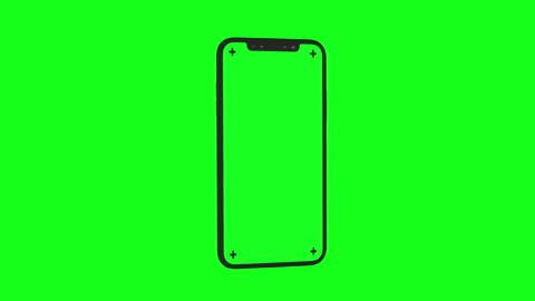 vídeos y material grabado en eventos de stock de moderno smartphone 3d gira sobre chroma key verde bg - verde color