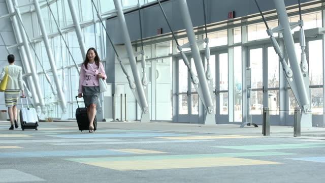 vídeos de stock, filmes e b-roll de modern airport terminal - bolsa tiracolo bolsa