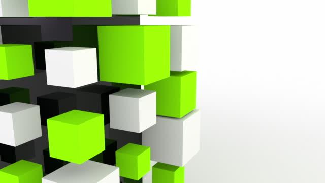 Modern Animated Blocks Loop - Green (HD)