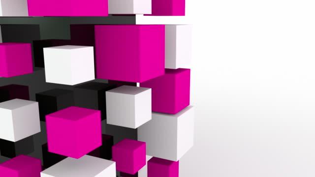 Modern Animated Blocks Loop - Pink