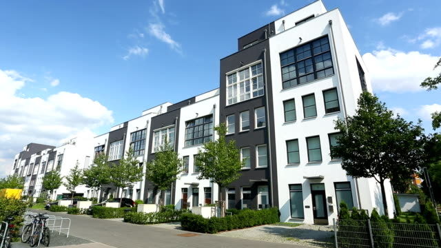 modern apartments - building exterior stock videos & royalty-free footage
