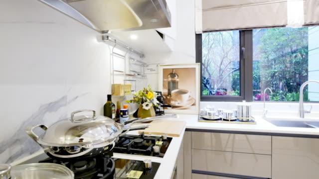 modernes gerät und design in modernen küche - haushaltsmaschine stock-videos und b-roll-filmmaterial